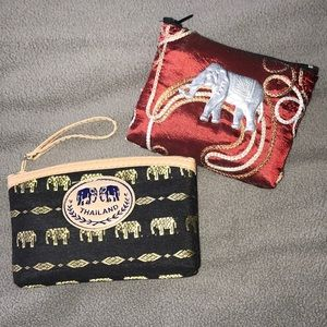 Two Elephant Coin Purses from Thailand